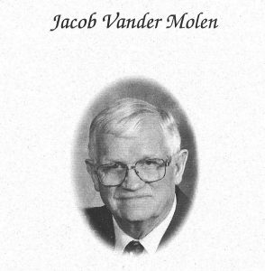Jacob Vander Molen, who passed away in 2002, served on COC's Board from 1973-1979